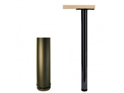 4959 stolova noha 820 mm kulata cerna