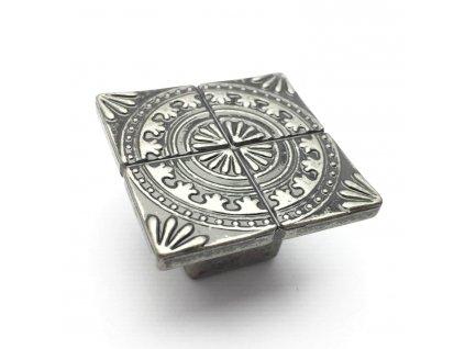 5016 nabytkova knopka sparta nikl patina