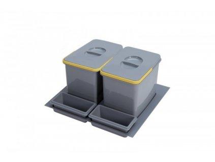 5283 2 odpadkovy kos sinks practiko 600 2x12l 2x miska