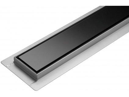 Lineární koupelnový žlab Černé Sklo 60 cm WET&DRY TO-75386