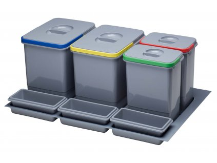 5337 2 odpadkovy kos sinks practiko 800 2x12l 2x5l 3x miska