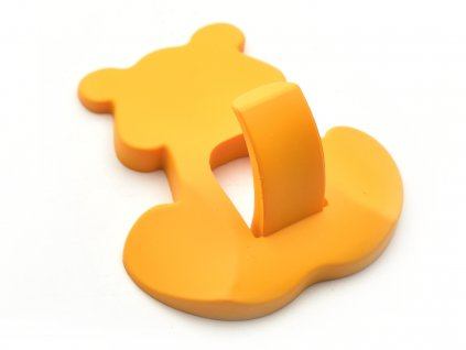 nabytkova detska uchytka medvidek oranžový 1