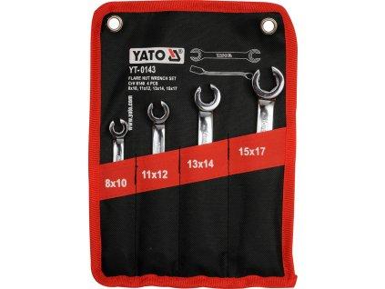 Sada klíčů prstencových 4ks 8-17 mm polootevřené YT-0143