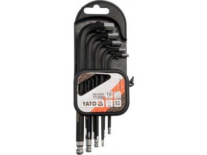 Sada klíčů imbus s kuličkou 10 ks delší YT-0560