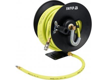 Naviják se vzduchovou hadicí PVC+NBR 9,5mm, 15m YT-24241
