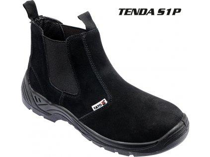 Boty pracovní kotníkové TENDA vel. 40 YT-80853
