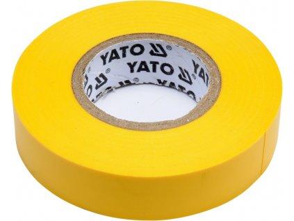 Izolační páska elektrikářská PVC 15mm / 20m žlutá YT-81594
