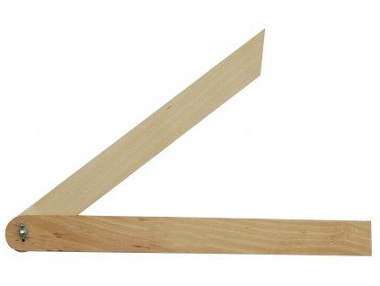 Úhelník 400 mm nastavitelný dřevěný TO-18810