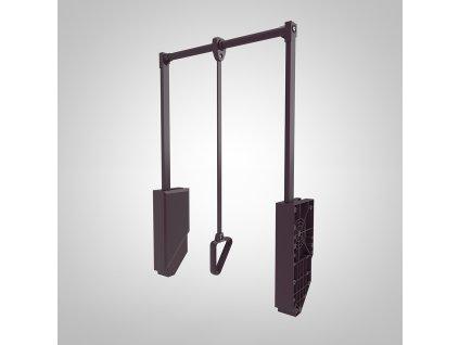 STRONG šatníková tyč sklopná 600-800 mm hnedá