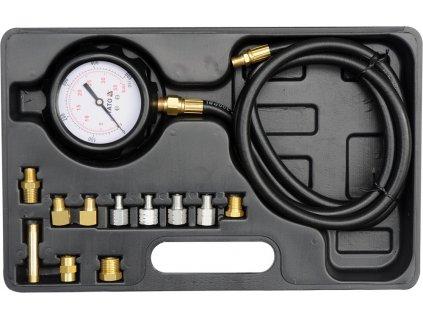 Souprava k měření kompresního tlaku oleje, 12ks, 0-35bar YT-73030