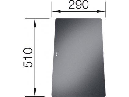 Krájecí deska sklo černá pro STATURA 510x290
