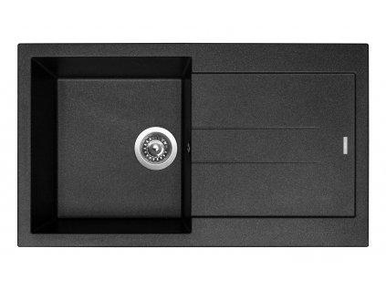 6795 4 granitovy drez sinks amanda 860 metalblack