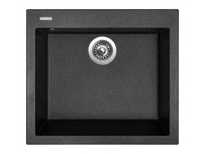 6975 4 granitovy drez sinks cube 560 granblack