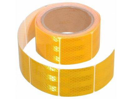 Samolepící páska reflexní dělená 5m x 5cm žlutá (role 5m) 01547