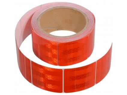 Samolepící páska reflexní dělená 5m x 5cm červená (role 5m) 01549