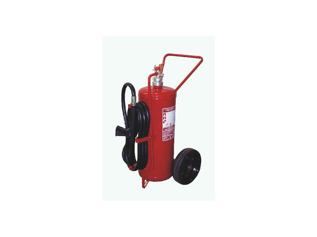 Pojízdný hasicí přístroj práškový P50Te