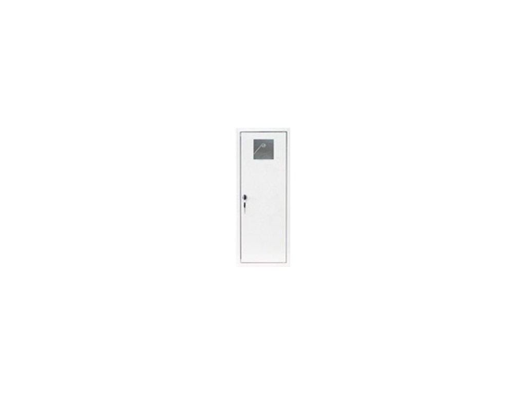Skříňka kovová na hasicí přístroj 1 x P6, V6 - bílá