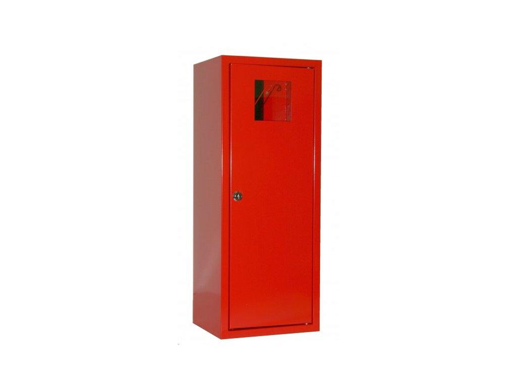 Skříňka kovová na hasicí přístroj 1 x P6, V6 - červená