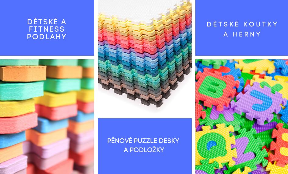 Pěnové desky puzzle a fitness podložky