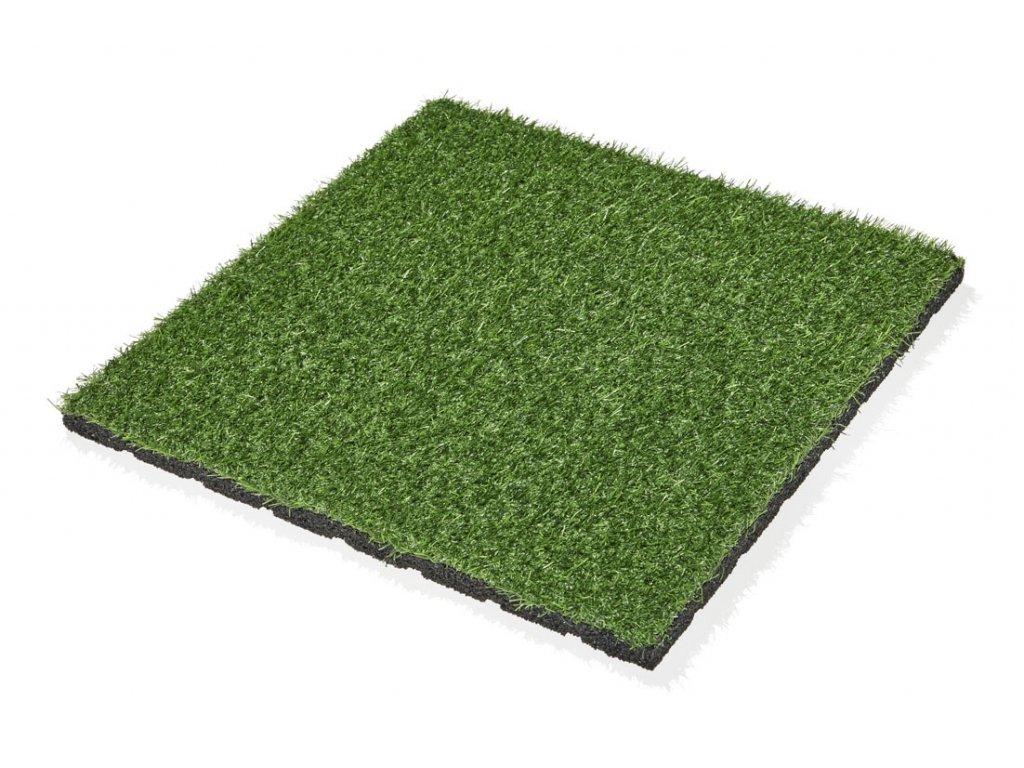 Gumová dlažba MARS s umělou trávou