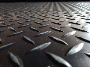 Gumový koberec průmyslový GP9 desén: kotlářský plech