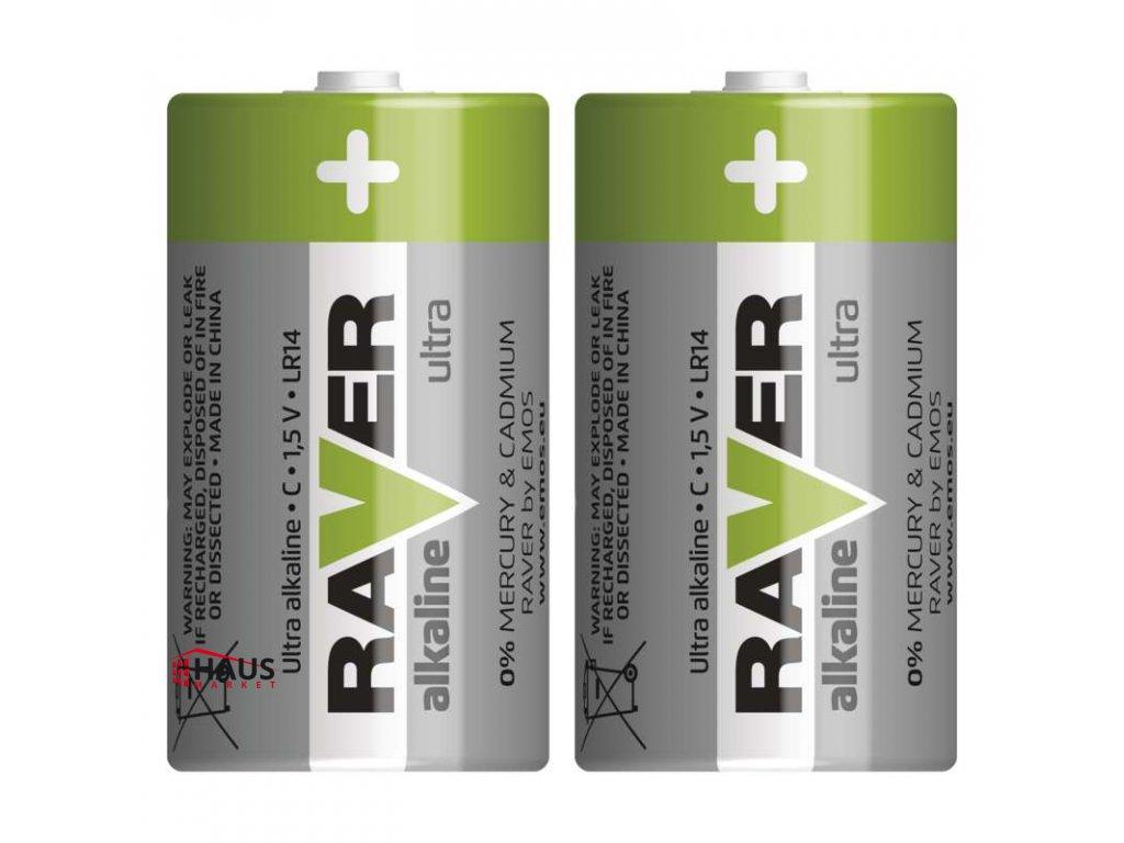 Alkalická batéria RAVER LR14 (C) B7931