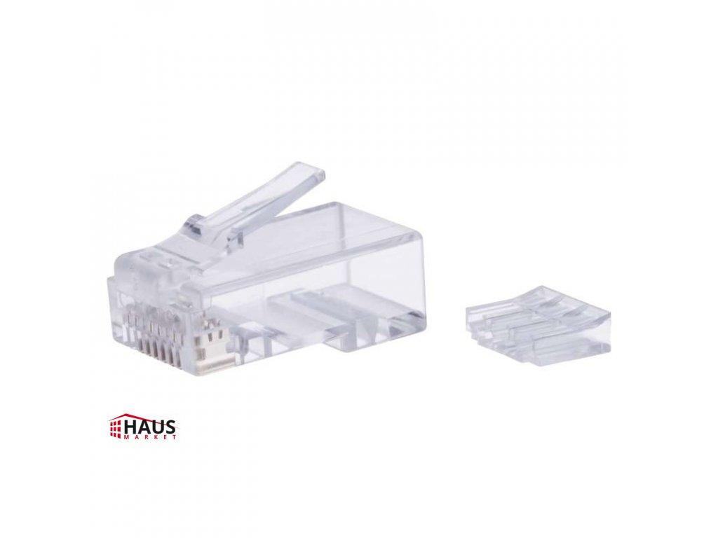 Konektor RJ45 pre UTP kábel (drôt), biely K0103