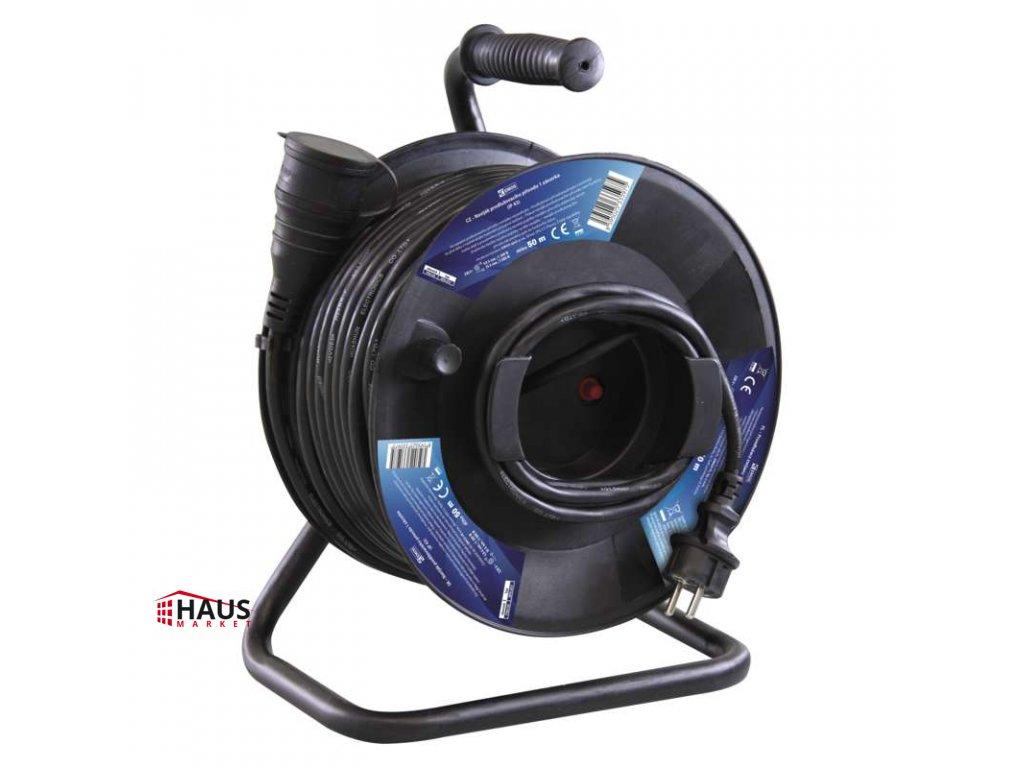 Gumový predlžovací kábel na bubne – spojka, 50m, 1,5mm2 P08150