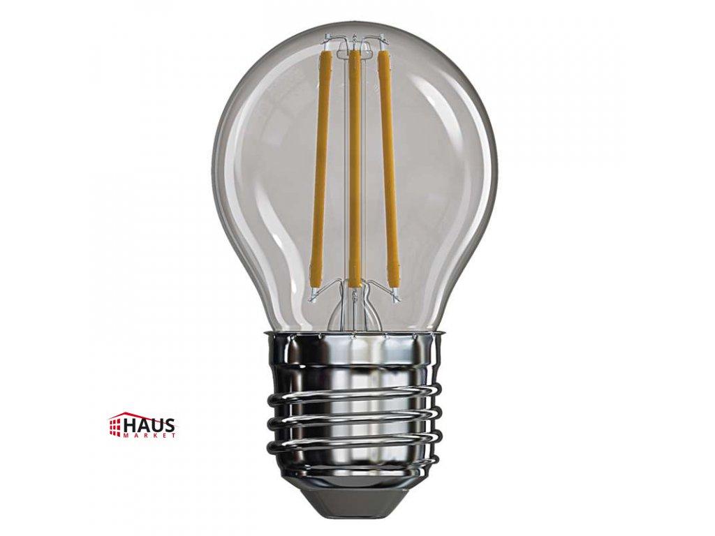 LED žiarovka Filament Mini Globe 4W E27 teplá biela Z74240