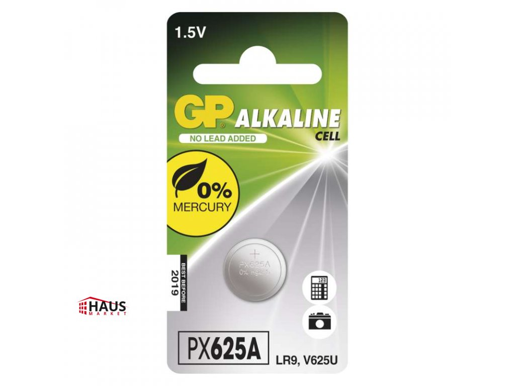 Alkalická gombíková batéria GP LR9 (625A) B1325