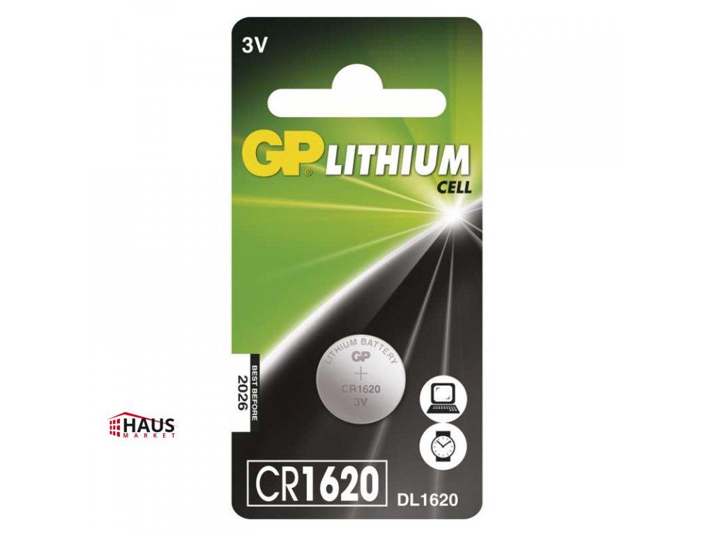 Lítiová gombíková batéria GP CR1620 B15701