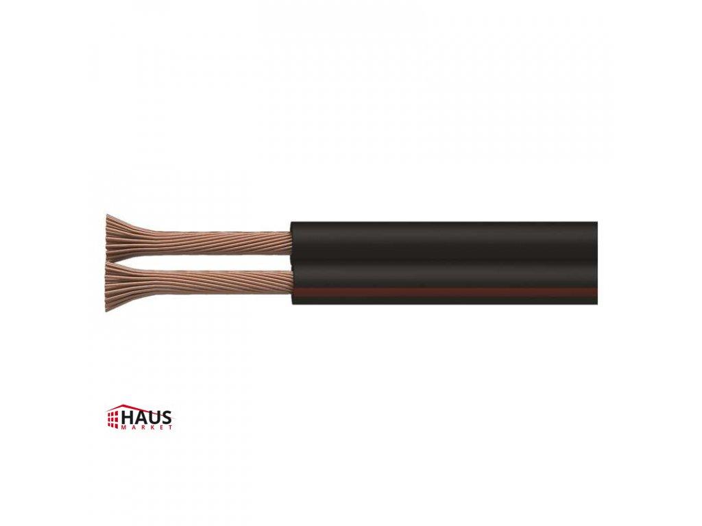 Dvojlinka netienená 2×0,15mm čierno/červená, 200m S8130