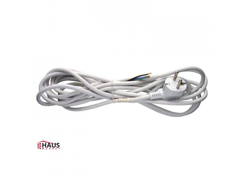 Flexo šnúra PVC 3× 0,75mm2, 5m, biela S14375