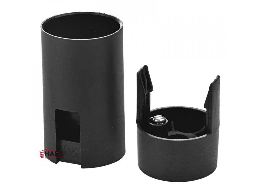 Objímka na žiarovku E14 plastová 1253-030, čierna A2905