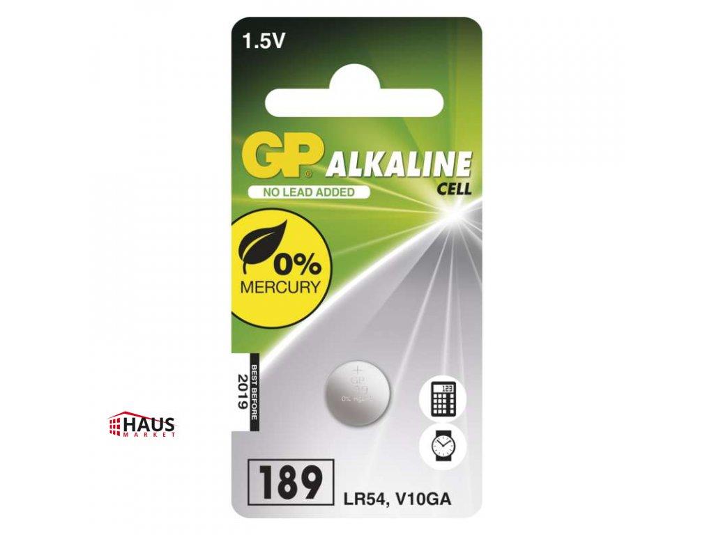 Alkalická gombíková batéria GP LR54 (189F) B13892