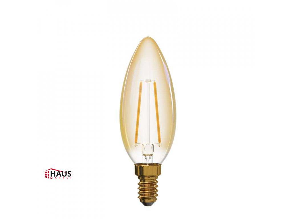 LED žiarovka Vintage Candle 2W E14 teplá biela+ Z74300