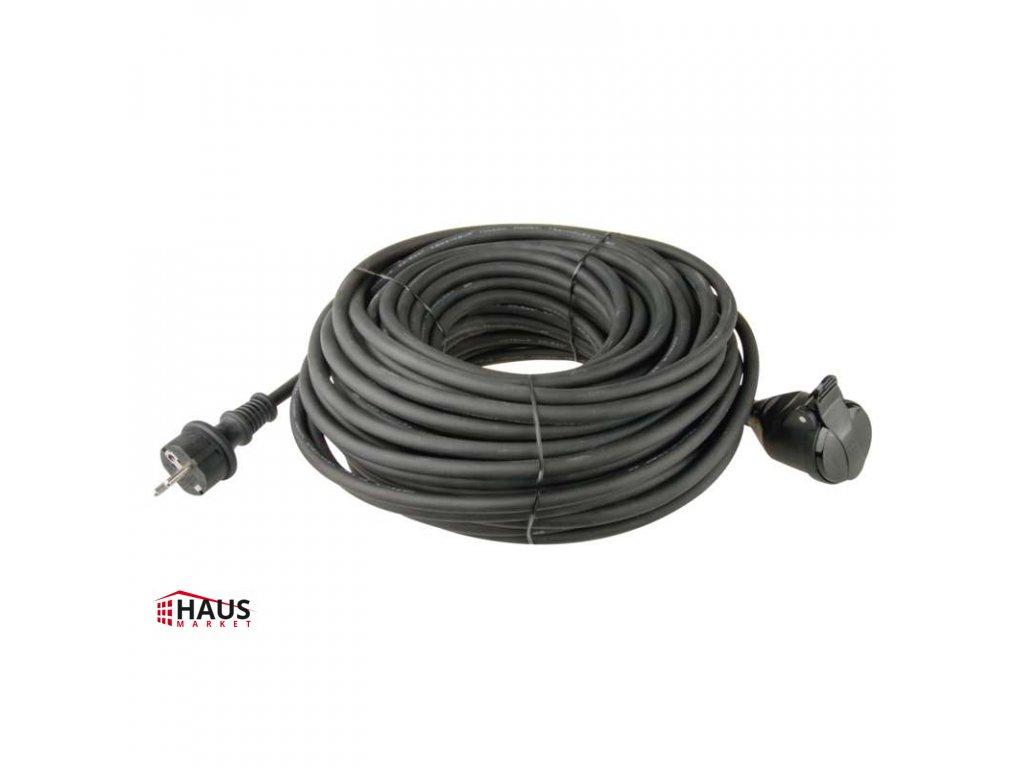 Predlžovací kábel gumový – spojka, 30m, 3× 1,5mm2 P01730