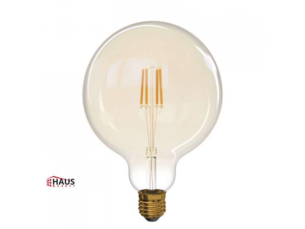 LED žiarovka Vintage G125 4W E27 teplá biela+ Z74303