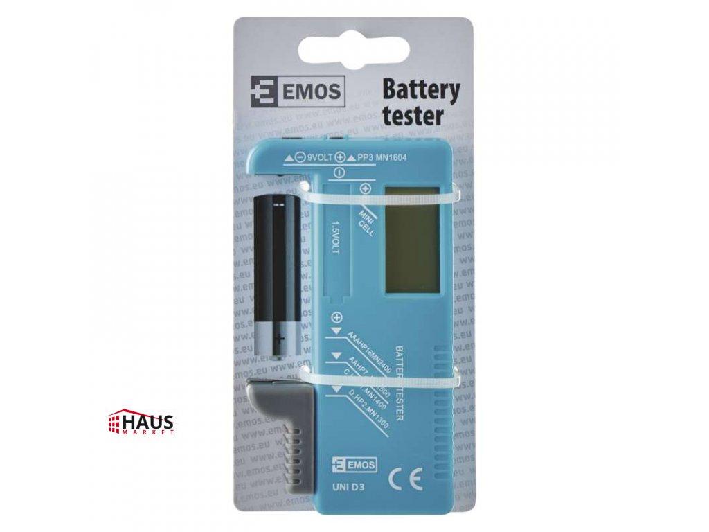 Univerzálny tester batérií (AA, AAA, C, D, 9V, gombíkových) N0322
