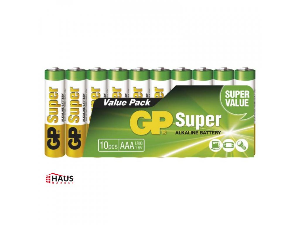 Alkalická batéria GP Super LR03 (AAA) B1310G