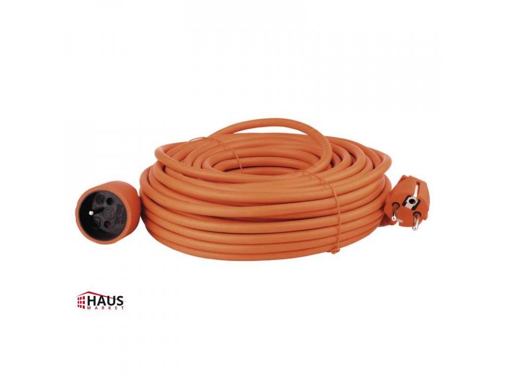 Predlžovací kábel – spojka, 25m, oranžový P01125