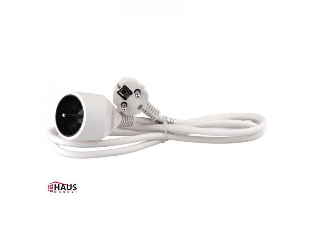 Predlžovací kábel – spojka, 2m, biely P0112