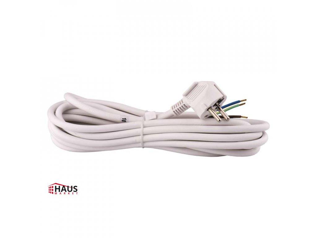 Flexo šnúra PVC 3× 1,5mm2, 5m, biela S14325