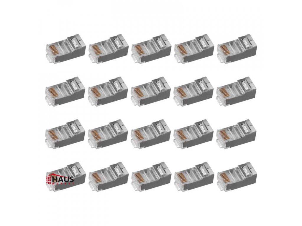 Konektor RJ45 pre FTP kábel (drôt) CAT5E K0201