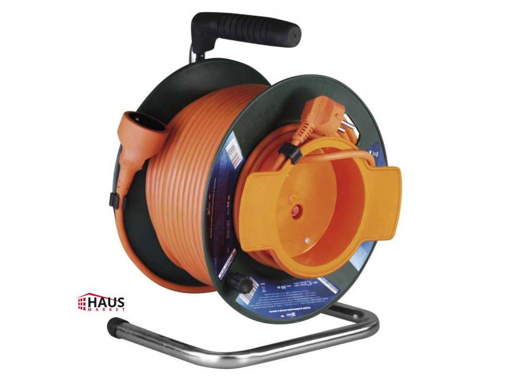PVC predlžovací kábel na bubne – spojka, 50m, 1,5mm2 P19150