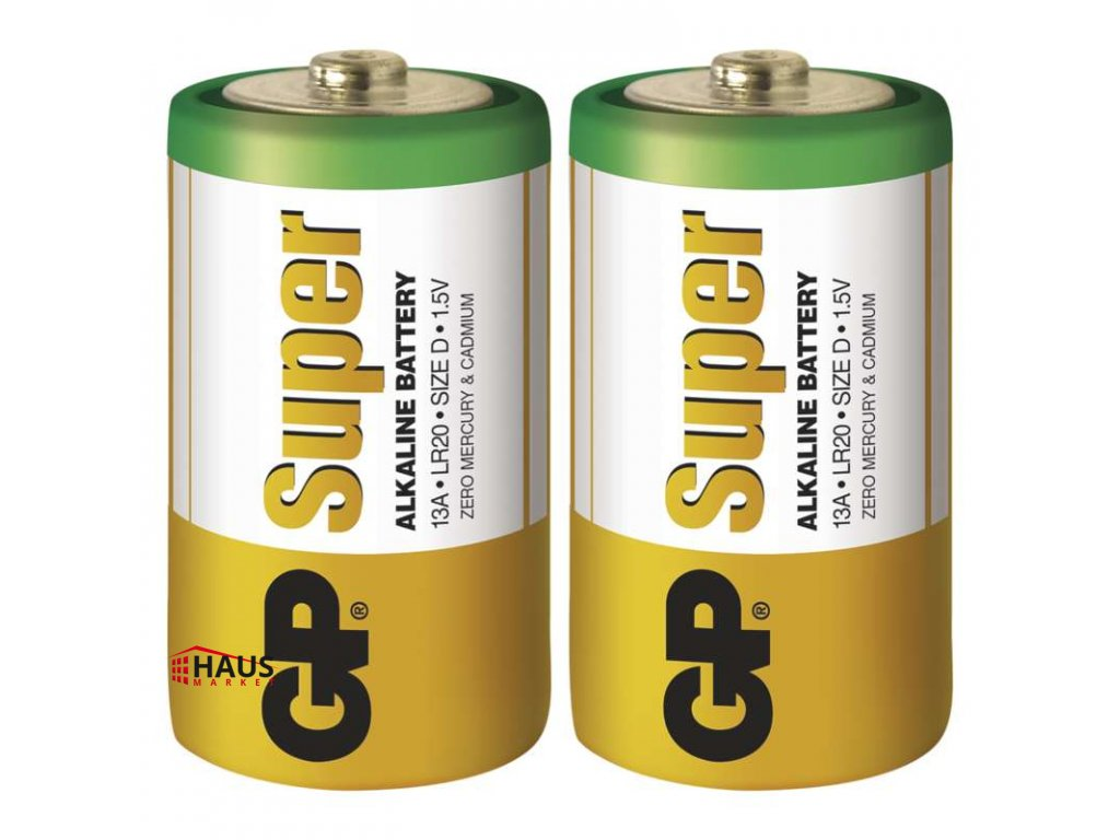 Alkalická batéria GP Super LR20 (D) B1341