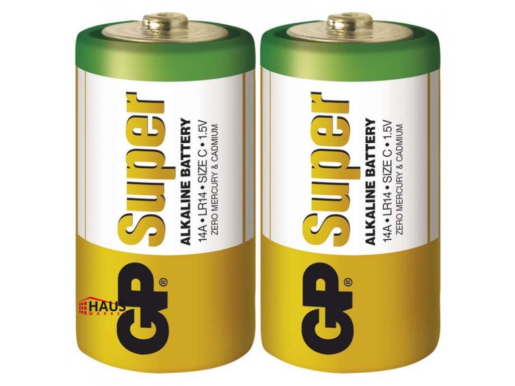 Alkalická batéria GP Super LR14 (C) B1331