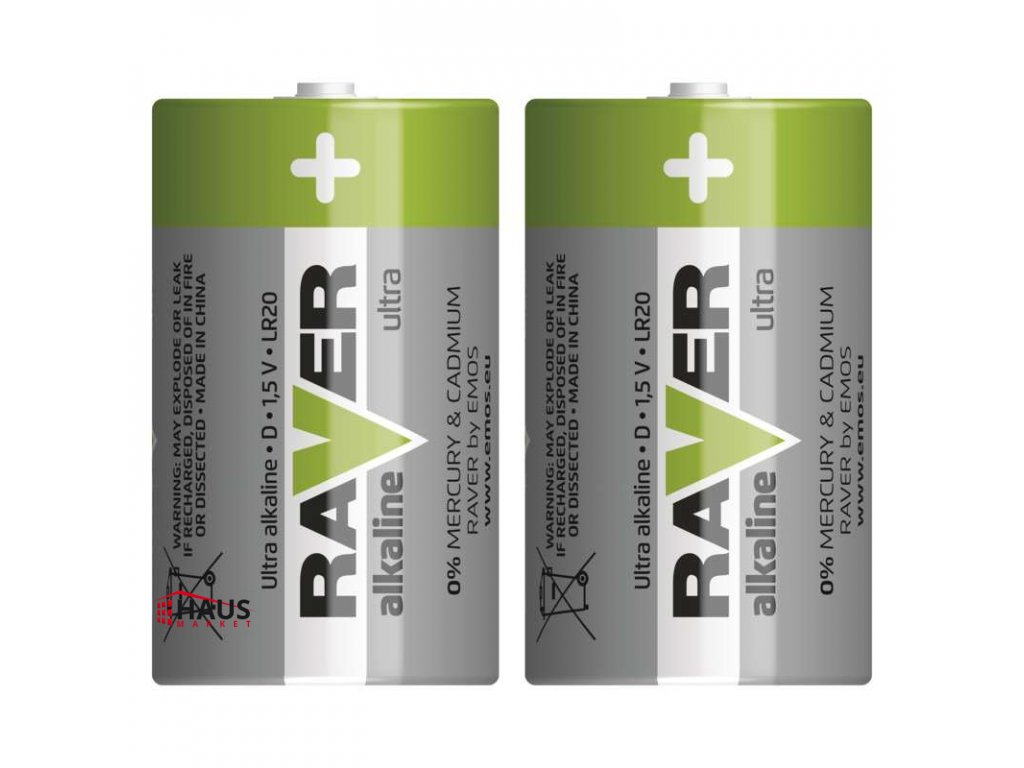 Alkalická batéria RAVER LR20 (D) B7941