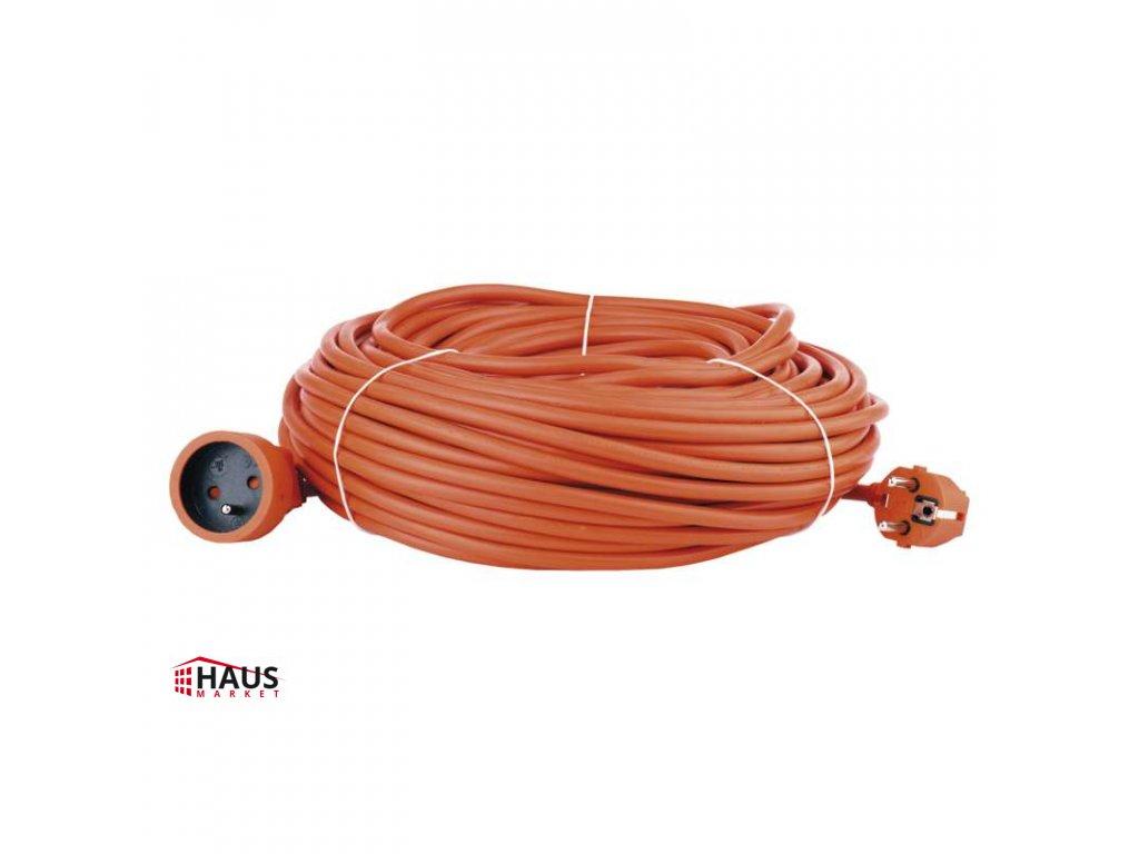 Predlžovací kábel – spojka, 40m, oranžový P01140