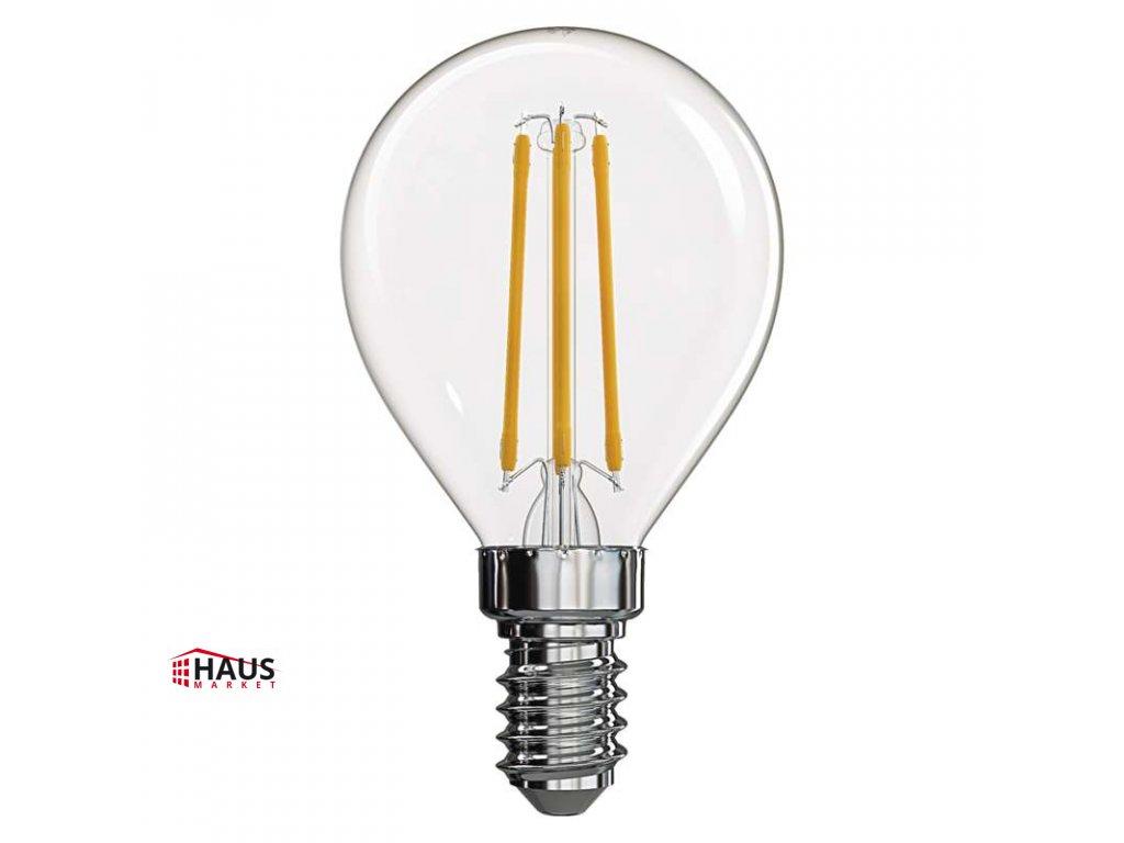 LED žiarovka Filament Mini Globe 4W E14 teplá biela Z74230